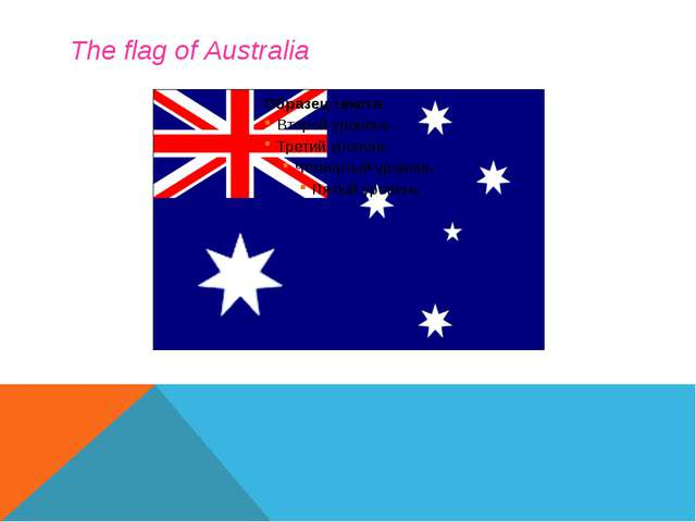 The flag of Australia