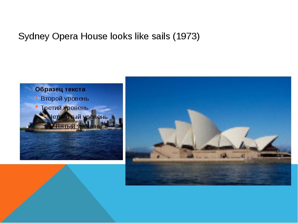 Sydney Opera House looks like sails (1973)