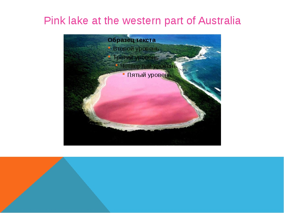 Pink lake at the western part of Australia