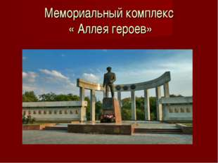 Мемориальный комплекс « Аллея героев»