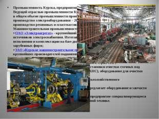 Промышленность Курска, предприятия и заводы Курска Ведущей отраслью промышлен