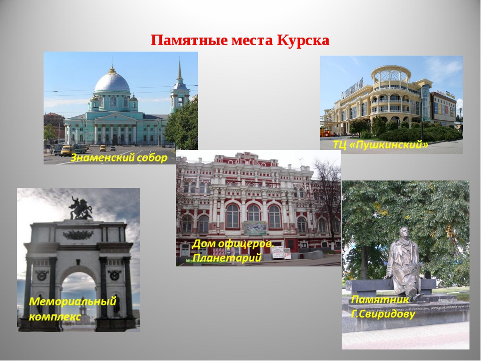 Памятные места Курска