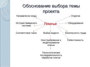 Обоснование выбора темы проекта Направление модыОтделка  История баварско