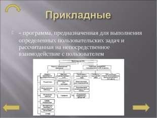 - программа, предназначенная для выполнения определенных пользовательских за