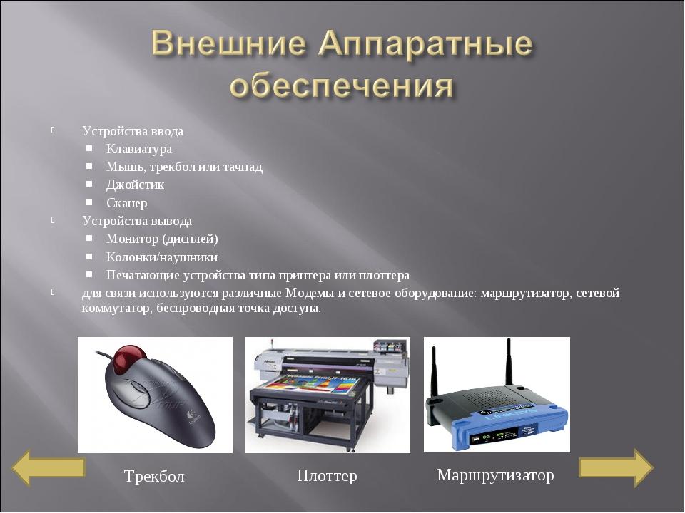Устройства ввода Клавиатура Мышь,трекболилитачпад Джойстик Сканер Устройст...
