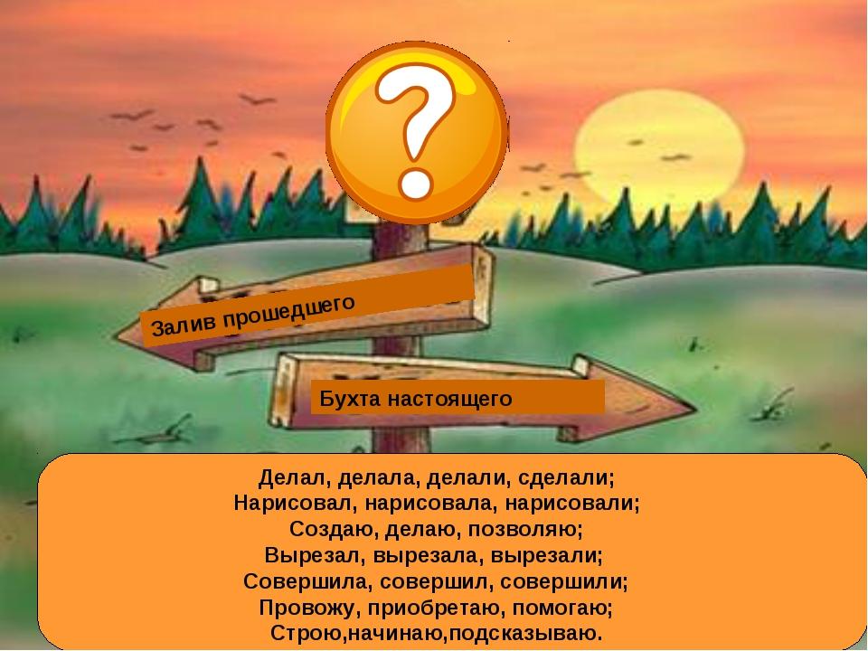 Залив многозначных слов Залив омонимов Бухта настоящего Залив прошедшего Дела...