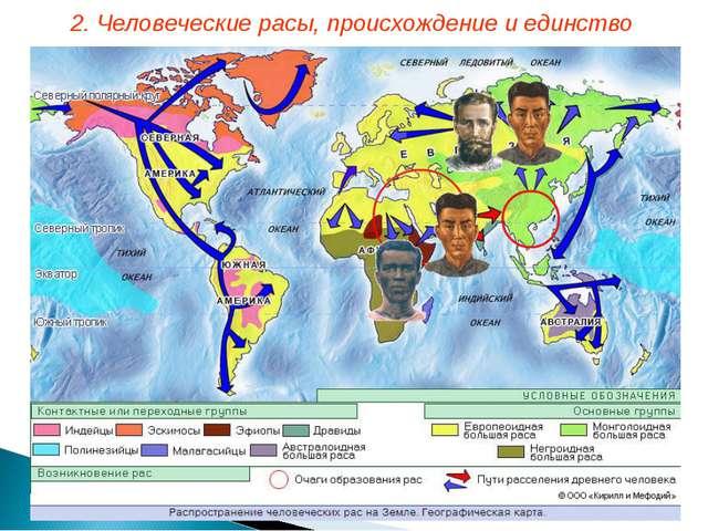 2. Человеческие расы, происхождение и единство