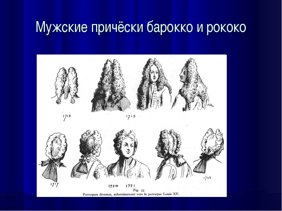 Мужские причёски барокко и рококо
