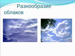 Разнообразие облаков