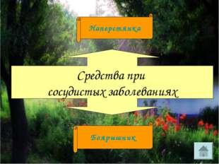 Средства при сосудистых заболеваниях Боярышник Наперстянка