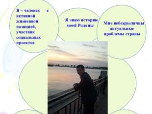 … Гражданином быть обязан Я – человек с активной жизненной позицией, участни