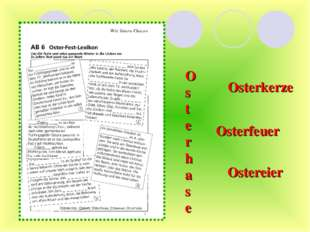 Osterhase Osterkerze Osterfeuer Ostereier