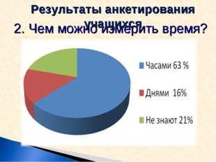 2. Чем можно измерить время? Результаты анкетирования учащихся