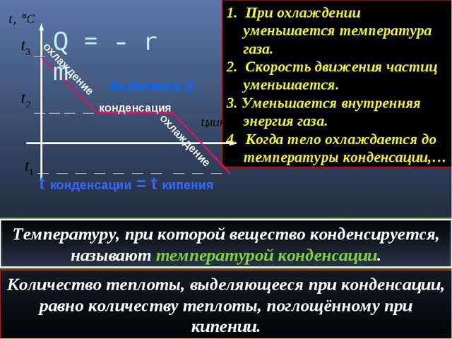 1. При охлаждении уменьшается температура газа. 2. Скорость движения частиц у...