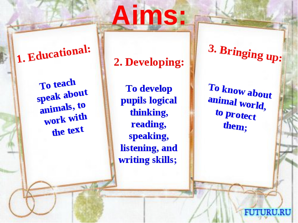 2. Developing: To develop pupils logical thinking, reading, speaking, listen...