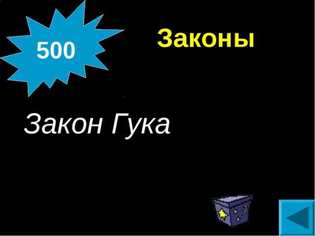 Законы Закон Гука 500
