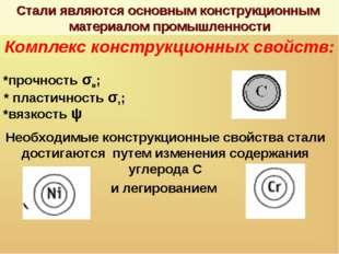 Стали являются основным конструкционным материалом промышленности Комплекс ко