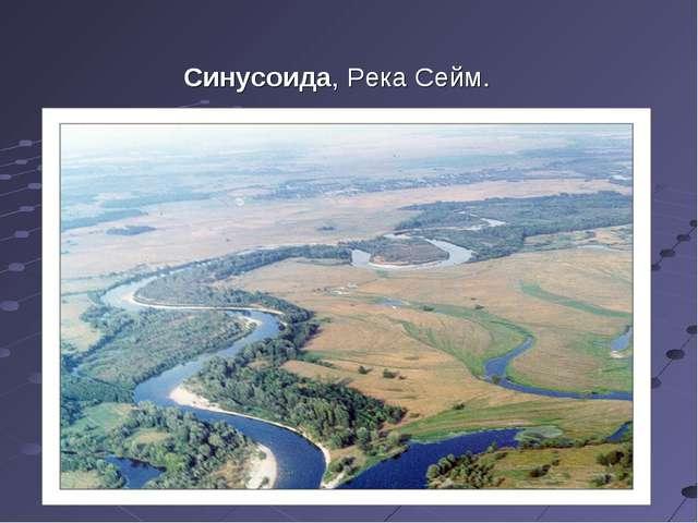 Синусоида, Река Сейм.