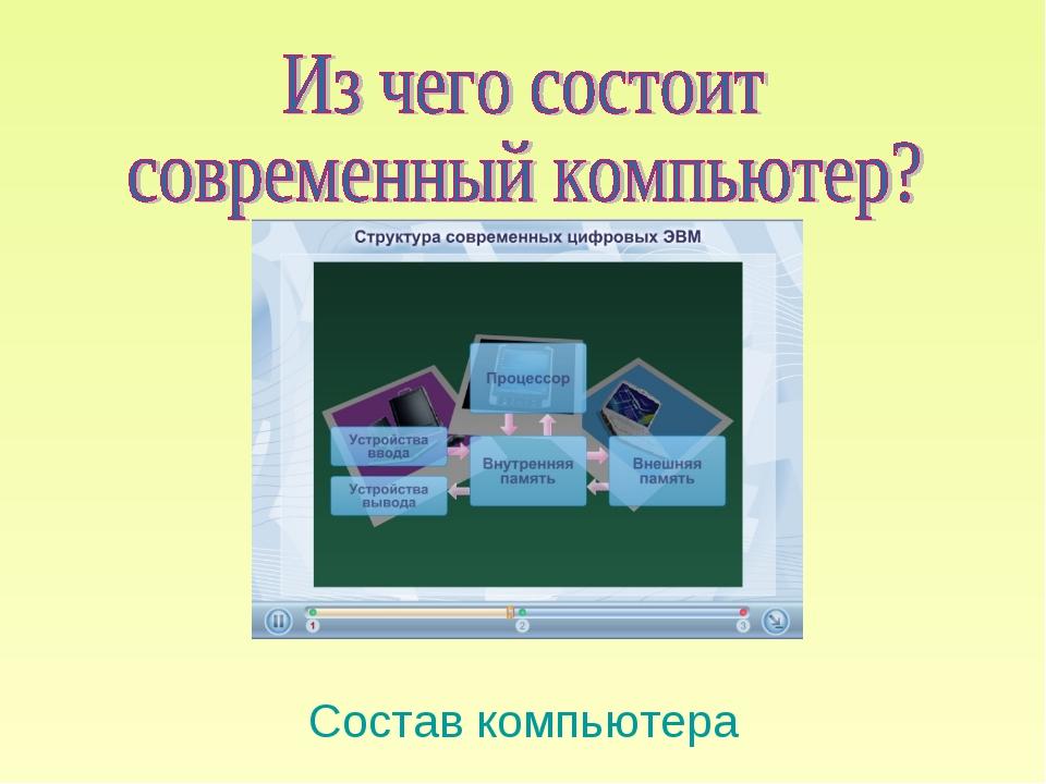 Состав компьютера