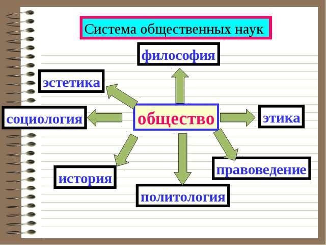 Система общественных наук общество