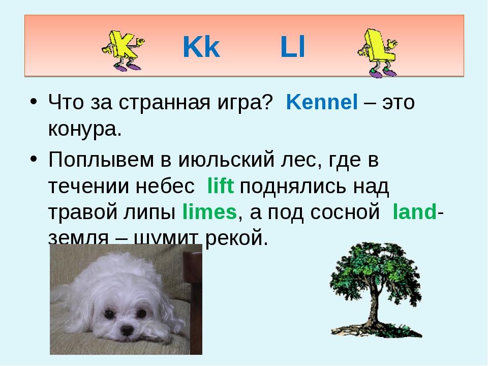 KkLl Что за странная игра? Kennel – это конура. Поплывем в июльский лес, гд...