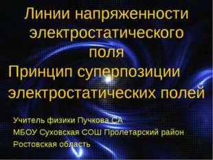 Линии напряженности электростатического поля Принцип суперпозиции электростат