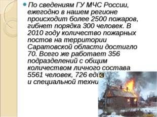 По сведениям ГУ МЧС России, ежегодно в нашем регионе происходит более 2500 по