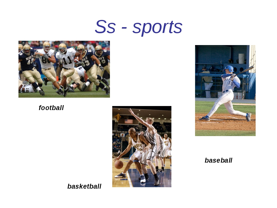 Ss - sports football baseball basketball