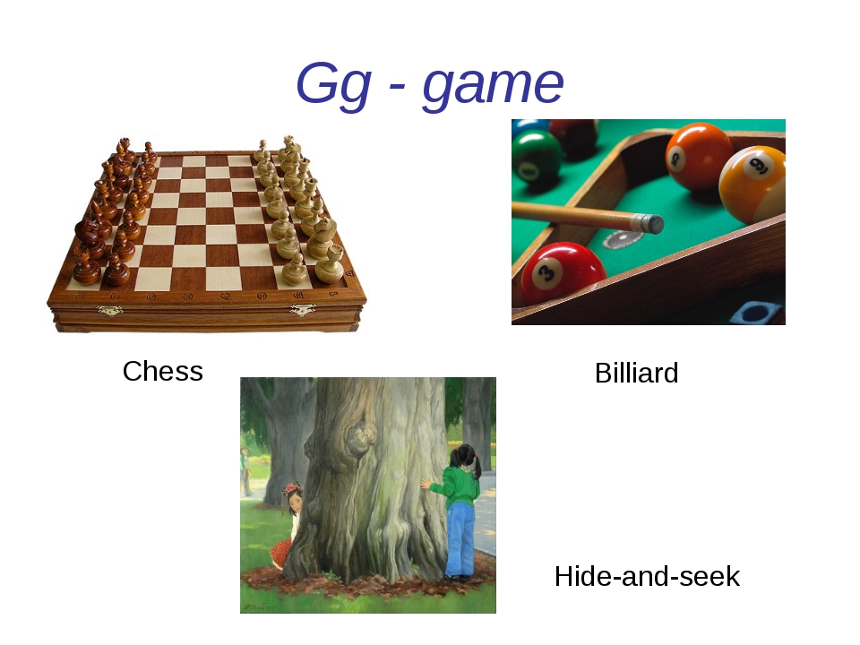 Gg - game Billiard Chess Hide-and-seek