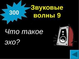 Звуковые волны 9 Что такое эхо? 300