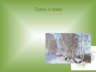 Осень и зима