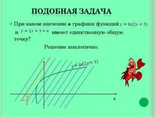 При каком значении а графики функций и имеют единственную общую точку? Решени