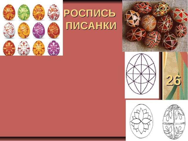 РОСПИСЬ ПИСАНКИ 26