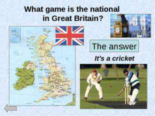 What game is the national in Great Britain? The answer