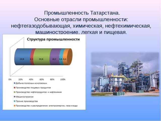 Промышленность Татарстана. Основные отрасли промышленности: нефтегазодобываю...