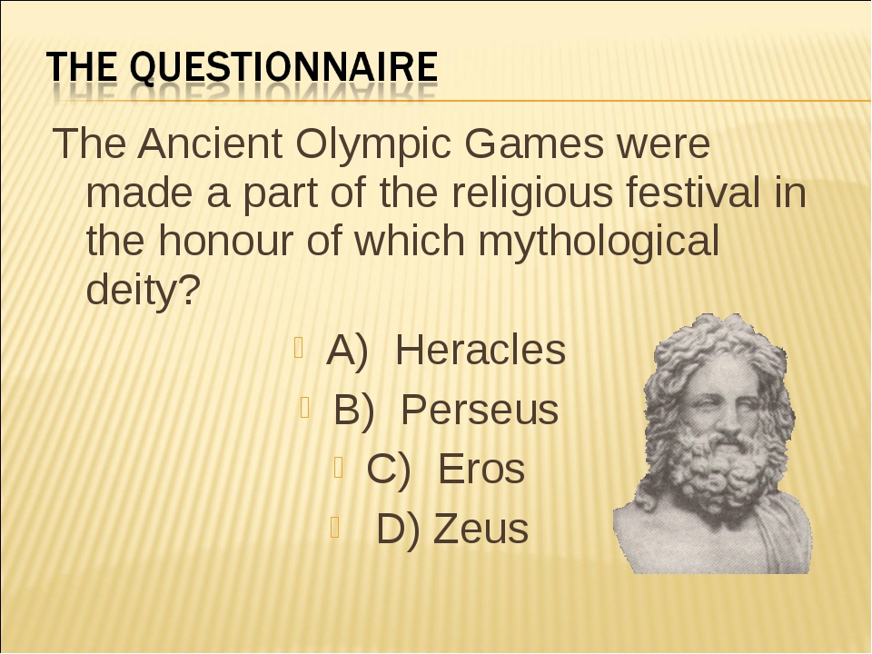 The Ancient Olympic Games were made a part of the religious festival in the h...