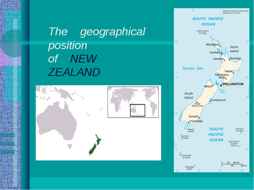 The geographical position of NEW ZEALAND