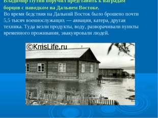 Владимир Путин поручил представить к наградам борцов с паводком на Дальнем В