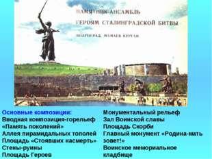 Монументальный рельеф Зал Воинской славы Площадь Скорби Главный монумент «Род