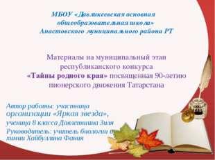 МБОУ «Давликеевская основная общеобразовательная школа» Апастовского муниципа