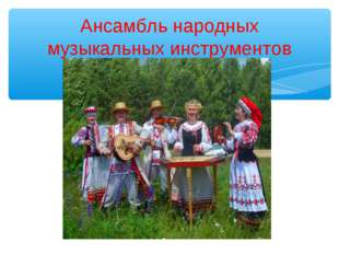 Ансамбль народных музыкальных инструментов