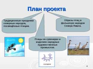 * План проекта Образы птиц в фольклоре народов Севера Ямала. Птицы на сувенир