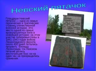 Плацдарм Невский пятачок— одна из самых героических и трагических страниц от