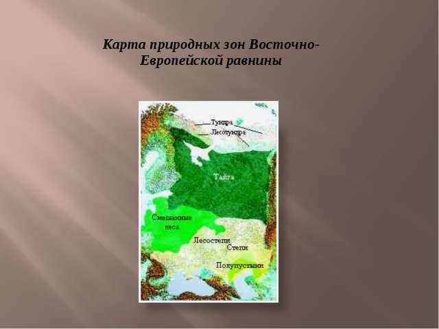 Карта природных зон Восточно-Европейской равнины