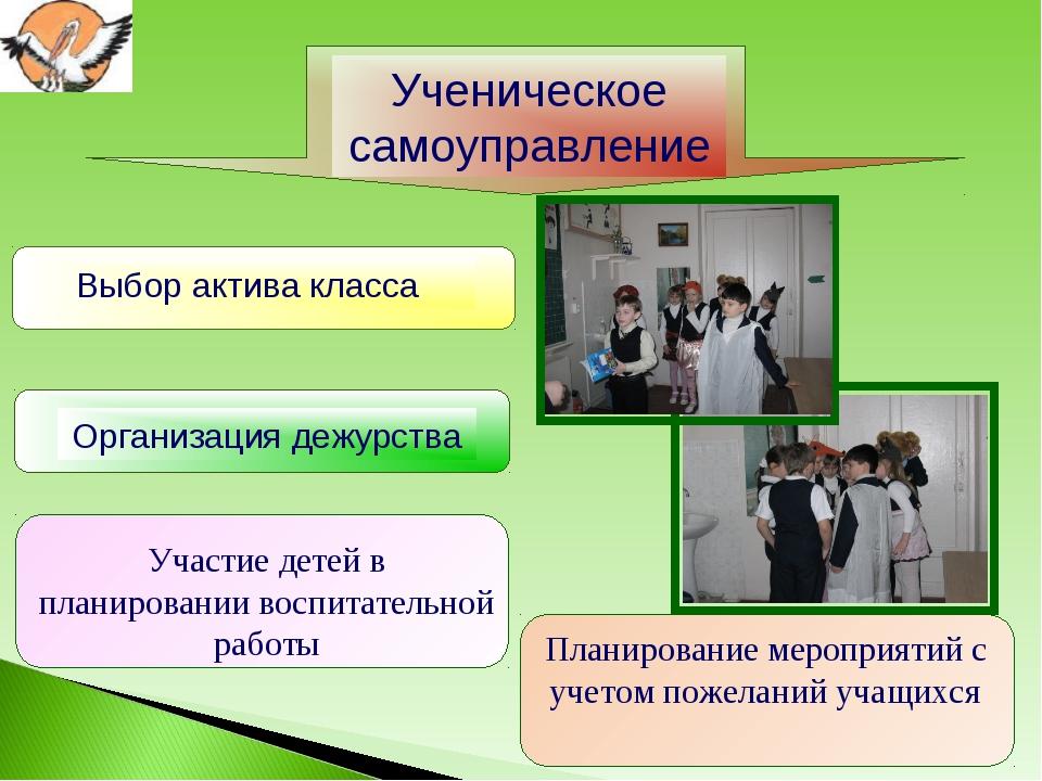 Планирование мероприятий с учетом пожеланий учащихся Участие детей в планиров...