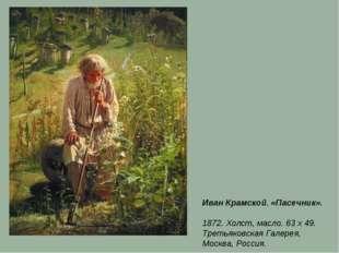 Иван Крамской. «Пасечник». 1872. Холст, масло. 63 x 49. Третьяковская Галерея