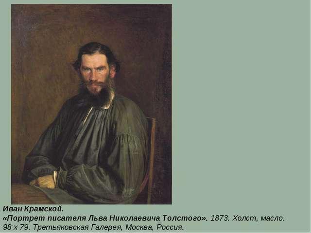 Иван Крамской. «Портрет писателя Льва Николаевича Толстого». 1873. Холст, мас...