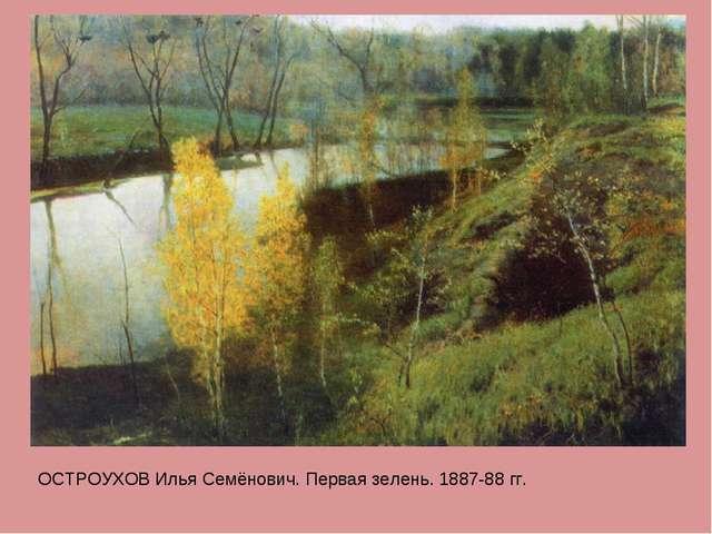 ОСТРОУХОВ Илья Семёнович. Первая зелень. 1887-88 гг.