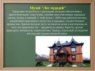 """Музей """"Лес-чудодей"""" Предложит встретиться с реальными лесными обитателями и ф"""