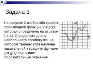 Задача 3 На рисунке 2 изображён график производной функции у = g(х), которая